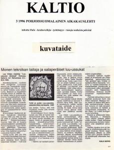 Kulttuurilehti Kaltio 1996